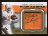 2010 Upper Deck SP Authentic Rookie Super Jersey Autographs #MH Montario Hardesty Autograph /25