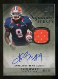 2010 Upper Deck Exquisite Collection Signature Jersey #ESJAB Arrelious Benn Autograph /99