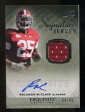 2010 Upper Deck Exquisite Collection Signature Jersey #ESJRM Rolando McClain Autograph /99