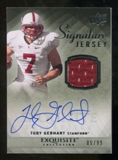 2010 Upper Deck Exquisite Collection Signature Jersey #ESJTG Toby Gerhart Autograph /99