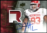 2010 Upper Deck Exquisite Collection #119 Gerald McCoy RC Patch Autograph 63/120