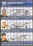2008/09 Upper Deck Be A Player Signatures Trios #S3AWE Jason Arnott Shea Weber Dan Ellis Autograph 35/35