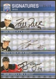 2008/09 Upper Deck Be A Player Signatures Trios #S3EGP Patrik Elias Brian Gionta Zach Parise Autograph 35/35