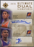 2007/08 Ultimate Collection #DB Boris Diaw & Leandro Barbosa Signatures Dual Auto /25