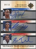 2005/06 Ultimate Collection #TSNLT Jameer Nelson Shaun Livingston Sebastian Telfair Triple Auto #04/10