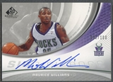 2005/06 SP Game Used #MW Maurice Williams SIGnificance Auto #031/100