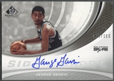 2005/06 SP Game Used #GG George Gervin SIGnificance Auto #030/100