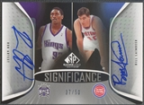 2006/07 SP Game Used #AL Ron Artest & Bill Laimbeer SIGnificance Dual Auto /50
