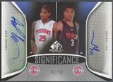 2006/07 SP Game Used #BJ Amir Johnson & Will Blalock SIGnificance Dual Auto #42/50