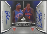 2006/07 SP Game Used #RC Quentin Richardson & Eddy Curry SIGnificance Dual Auto #42/50