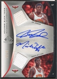 2006/07 SP Game Used #JW Joe Johnson & Marvin Williams Authentic Fabrics Dual Jersey Auto #38/50