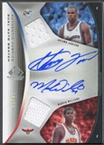 2006/07 SP Game Used #WJ Antawn Jamison & Marvin Williams Authentic Fabrics Dual Jersey Auto #24/50