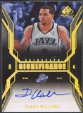 2007/08 SP Game Used #SIDW Deron Williams SIGnificance Auto