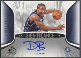 2006/07 SP Game Used #DB Dee Brown SIGnificance Auto #051/100