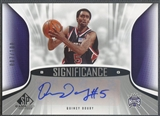 2006/07 SP Game Used #QD Quincy Douby SIGnificance Rookie Auto #007/100