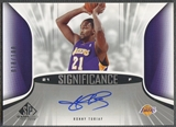 2006/07 SP Game Used #RT Ronny Turiaf SIGnificance Auto #018/100