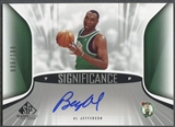 2006/07 SP Game Used #AJ Al Jefferson SIGnificance Auto #006/100