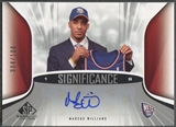 2006/07 SP Game Used #WM Marcus Williams SIGnificance Rookie Auto #004/100
