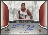 2006/07 SP Game Used #MW Martell Webster SIGnificance Auto /100