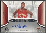 2006/07 SP Game Used #WI Marvin Williams SIGnificance Auto #044/100