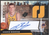 2004/05 SPx #125 Andris Biedrins Throwback Rookie Jersey Auto