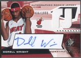 2004/05 SPx #123 Dorell Wright Rookie Jersey Auto /1999