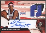 2004/05 SPx #145 Shaun Livingston Rookie Jersey Auto #620/750