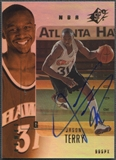 1999/00 SPx #100 Jason Terry Rookie Auto #0334/2500
