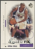 1998/99 SP Authentic #95 Vince Carter Rookie #0558/3500