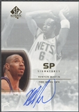 2002/03 SP Authentic #KM Kenyon Martin SP Signatures Auto