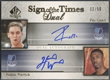 2005/06 SP Authentic #GW Pau Gasol & Hakim Warrick Sign of the Times Dual Auto #32/50