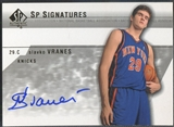 2003/04 SP Authentic #SVA Slavko Vranes SP Signatures Rookie Auto