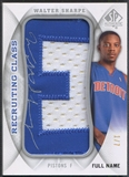 "2008/09 SP Authentic #RCNWS Walter Sharpe Letter ""E"" Patch Auto #1/7"