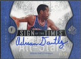 2006/07 SP Authentic #AD Adrian Dantley Sign of the Times All-Stars Auto #01/50