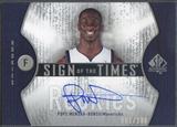 2006/07 SP Authentic #PM Pops Mensah-Bonsu Sign of the Times Rookie Auto #001/100