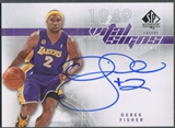 2008/09 SP Authentic #VSDF Derek Fisher Vital Signs Auto