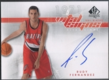 2008/09 SP Authentic #VSRF Rudy Fernandez Vital Signs Rookie Auto