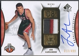 2008/09 SP Authentic #102 Joe Alexander Rookie Patch Auto #313/499