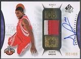 2008/09 SP Authentic #116 Donte Greene Rookie Patch Auto #352/499