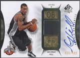 2008/09 SP Authentic #120 George Hill Rookie Patch Auto #039/499