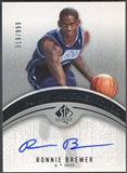 2006/07 SP Authentic #102 Ronnie Brewer Rookie Auto #519/999