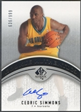 2006/07 SP Authentic #103 Cedric Simmons Rookie Auto #636/999