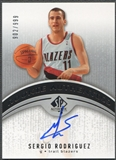 2006/07 SP Authentic #117 Sergio Rodriguez Rookie Auto #902/999