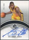 2006/07 SP Authentic #122 Solomon Jones Rookie Auto #951/999