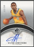 2006/07 SP Authentic #132 Hilton Armstrong Rookie Auto /299