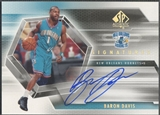 2004/05 SP Authentic #BD Baron Davis Signatures Auto