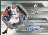 2004/05 SP Authentic #WE Delonte West Signatures Rookie Auto
