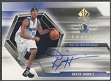 2004/05 SP Authentic #DE Devin Harris Signatures Rookie Auto
