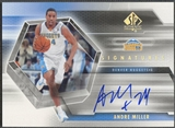 2004/05 SP Authentic #AM Andre Miller Signatures Auto
