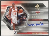2004/05 SP Authentic #DS Donta Smith Signatures Rookie Auto